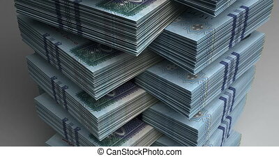 Stack of Saudi Arabian Riyals