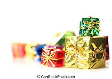 Stack of shiny presents