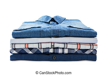 Stack of shirts isolated