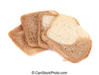 Stack of sliced bread.