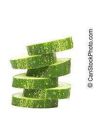 Stack of Sliced Cucumber