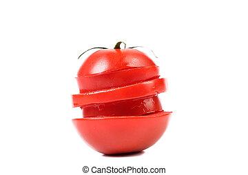 Stack of sliced tomato.