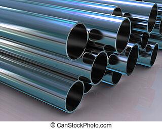 steel tubing 3d - stack of steel tubing 3d