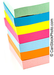 Stack of sticky notes - Stack of brightly colored sticky...