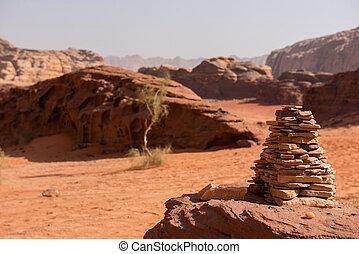 Stack of stones, balanced stone pyramide