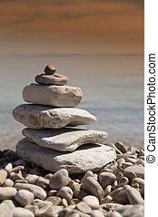 Stack of stones, Zen concept