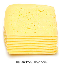 stack of thin cheese pieces
