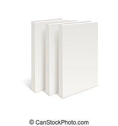 Stack of three blank books