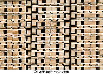 Transportation Pallets - Stack of Transportation Pallets for...