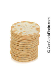 stack of water crackers