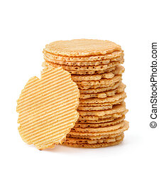 Stack of wheat crispbreads