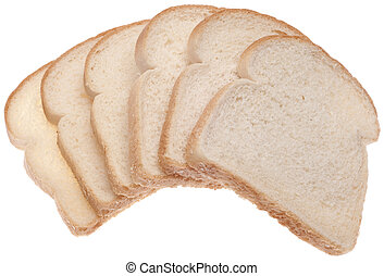 Stack of White Bread