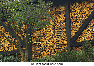stack of wood 22