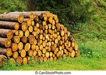 stack of wood 25