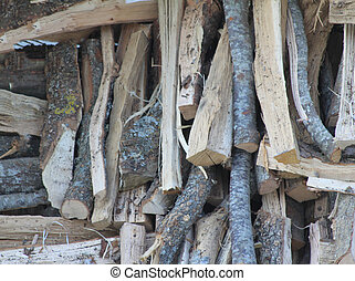 stack of wood arranged for home delivery