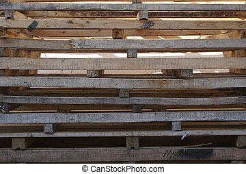 stack of wood pallets