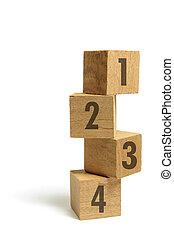 Stack of Wooden Number Blocks