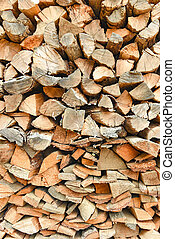 Stack of wooden plank for background and texture