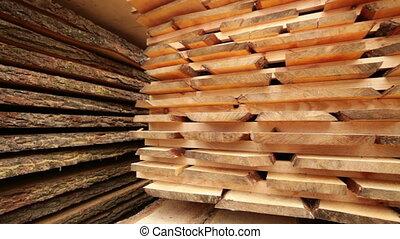 stack pallet boards wood