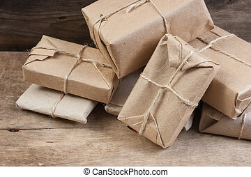 stack parcel  in warehouse