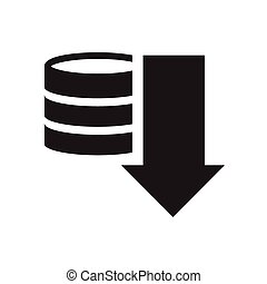 Stack with coins simple icon