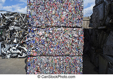 Stacked Aluminum Cans
