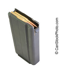 Stacked ammo - Ammunition that is loaded into a black high ...
