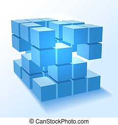 Stacked block cubes