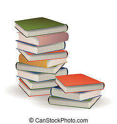 Stacked Books - Vector Illustration of Stacked Books