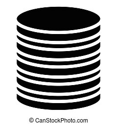 Stacked circles symbol. Archive, webhosting, file-sharing...