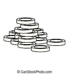stacked coins money