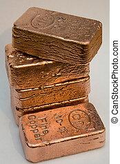 Stacked Copper Bullion Bars