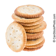 Stacked Crackers on white