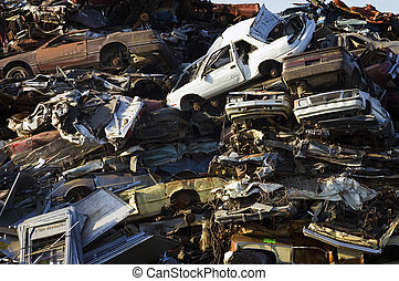 Stacked Crushed Cars