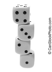 Stacked dice.