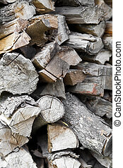 stacked firewood as a background