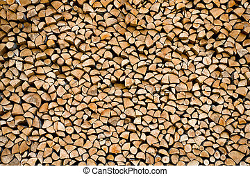 stacked firewood - firewood stacked, abstract background or ...