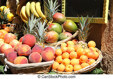 Stacked fruits