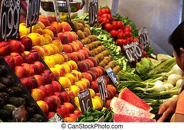 fruits on food market