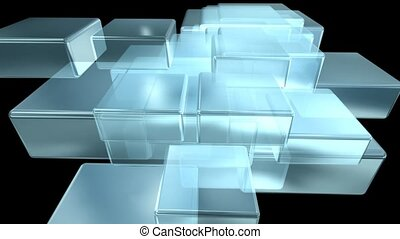 Stacked Glass Boxes
