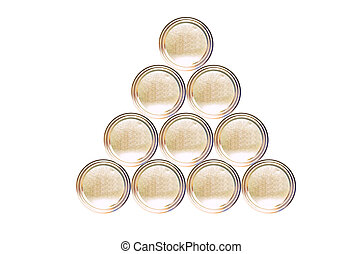 Stacked Gold tin