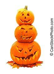 Stacked Halloween Jack o Lanterns