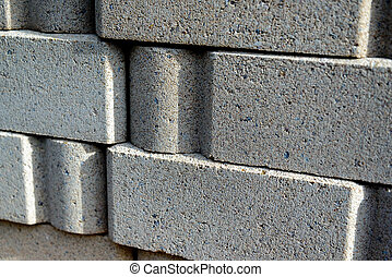 masonry building materials, bricks - stacked masonry...