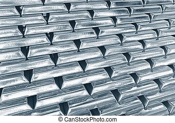 Stacked platinum bars