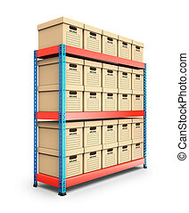Stacked storage boxes - 3D illustration