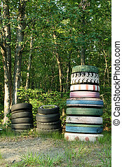 Stacked tires 2