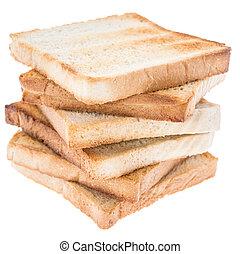 Stacked Toast isolated on white background