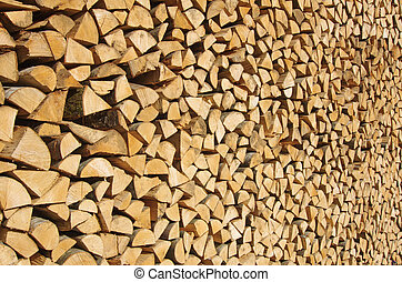 Stacked wood background