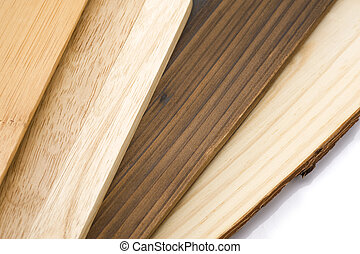 wooden board - Stacked wooden board on white background, ...