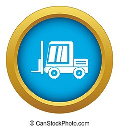 Stacker loader icon blue isolated